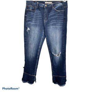KanCan Distressed Cropped Flair Jeans flair 29